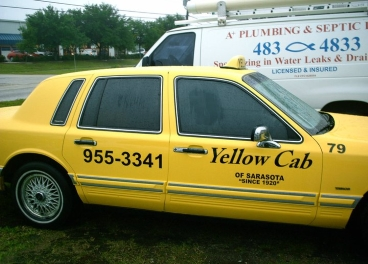 tint taxi cab and work van